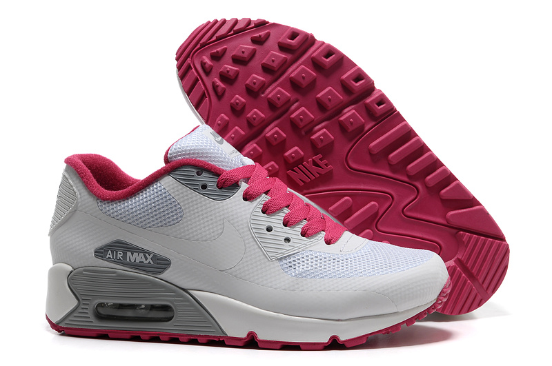 Womens Nike Air Max 90 Hyperfuse Trainers White/Red