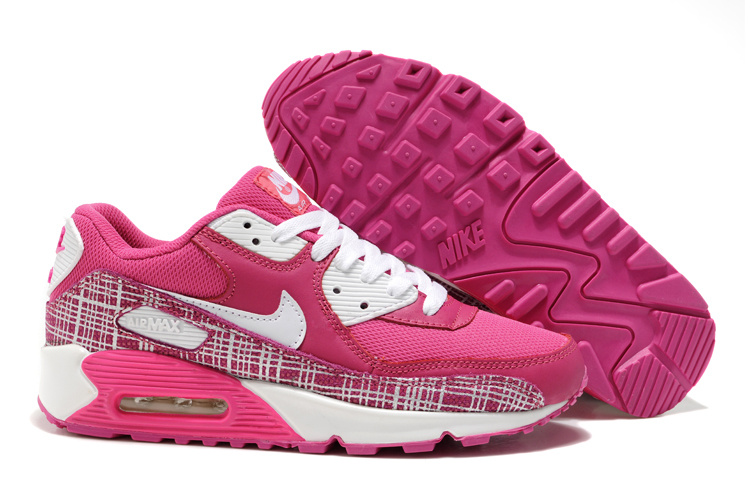 Womens Nike Air Max 90 Trainers Rose/White