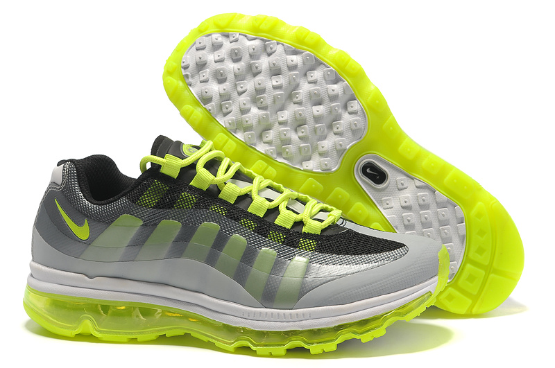 Mens Nike Air Max 95-360 Trainers Fluorescence Green/Black