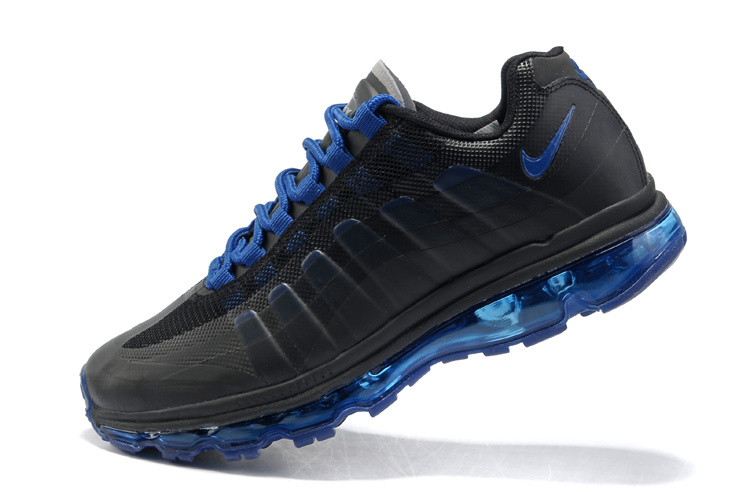 Mens Nike Air Max 95-360 Trainers Black/Deepblue