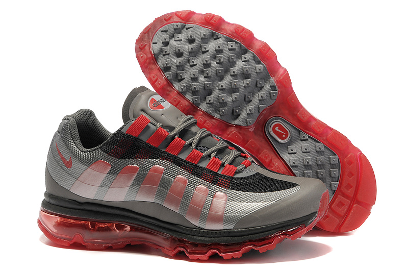 Mens Nike Air Max 95-360 Trainers Black/Red
