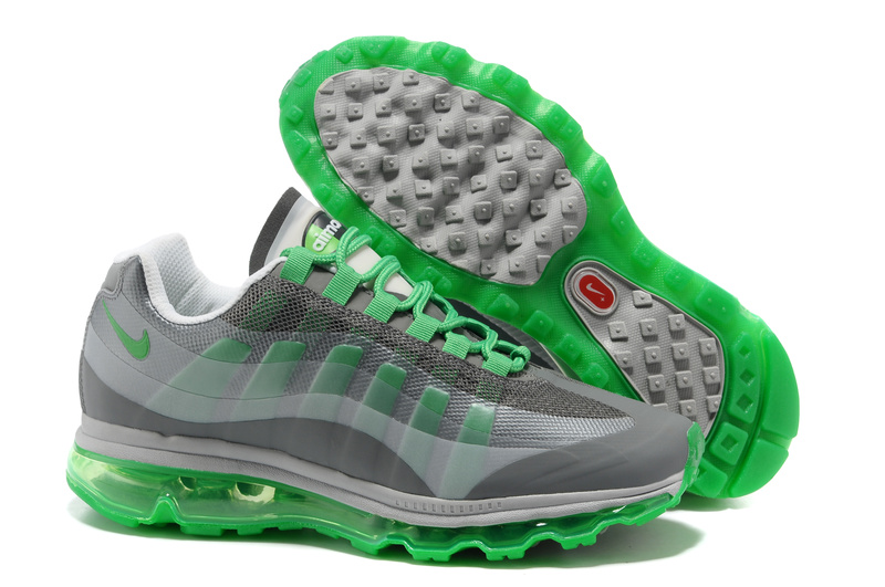 Womens Nike Air Max 95-360 Trainers Green/Grey