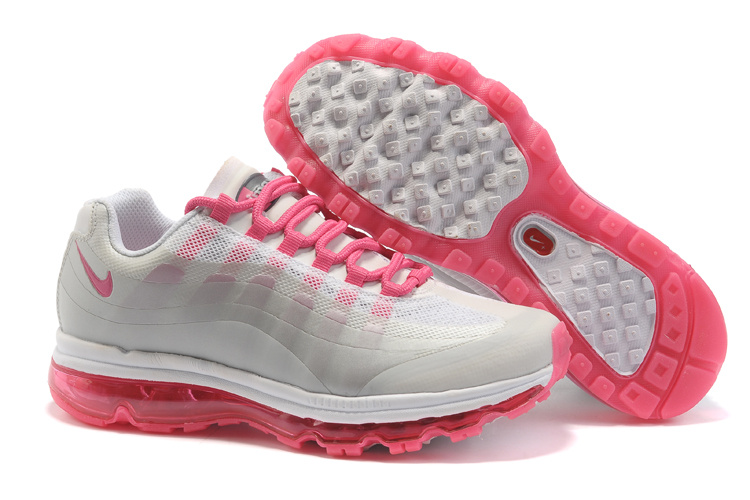 Womens Nike Air Max 95-360 Trainers Pink/Grey