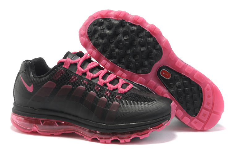 Womens Nike Air Max 95-360 Trainers Black/Pink
