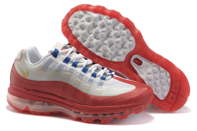 Womens Nike Air Max 95-360 Trainers Red/Pink