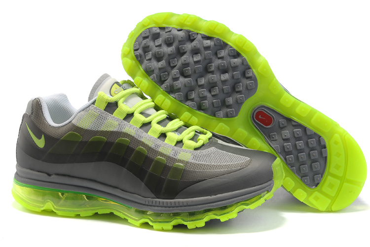 Womens Nike Air Max 95-360 Trainers Fluorescence Green/Grey