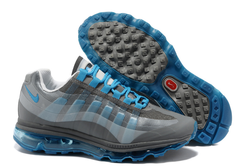 Womens Nike Air Max 95-360 Trainers Grey/Blue