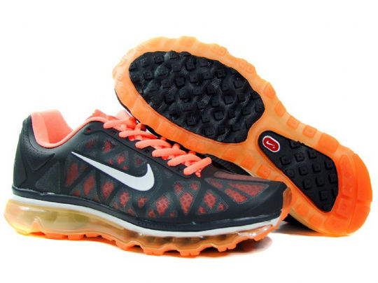 Mens Nike Air Max 2011 Trainers Orange/White/Black