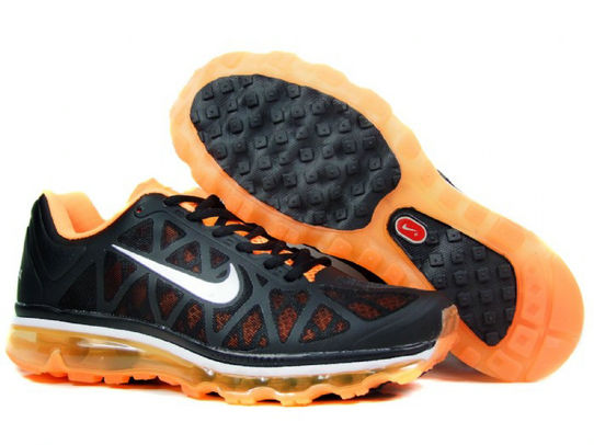 Mens Nike Air Max 2011 Trainers Orange/Black/White