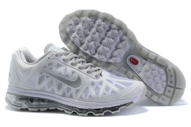 Mens Nike Air Max 2011 Trainers White/Grey