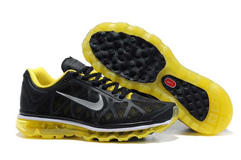 Mens Nike Air Max 2011 Trainers Yellow/Black/Silver
