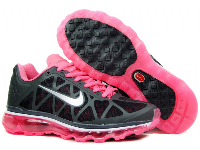 Womens Nike Air Max 2011 Trainers Black/Pink