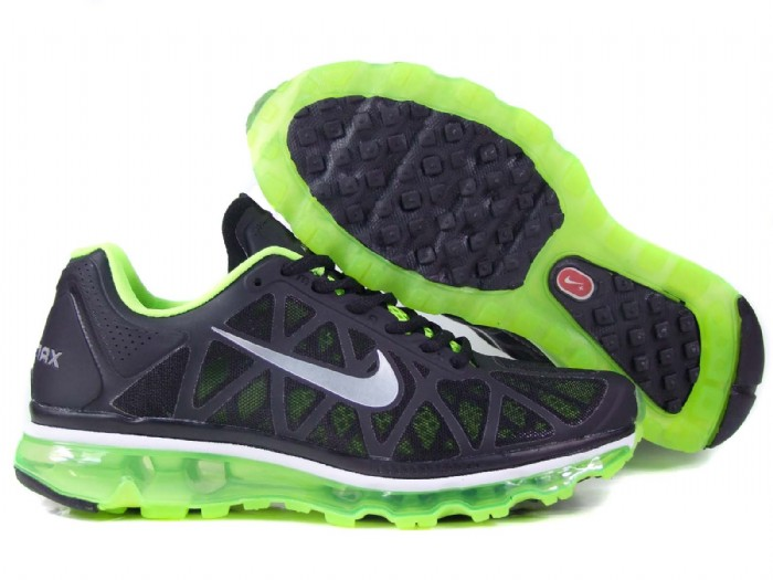 Womens Nike Air Max 2011 Trainers FluorescenceGreen/White/Black