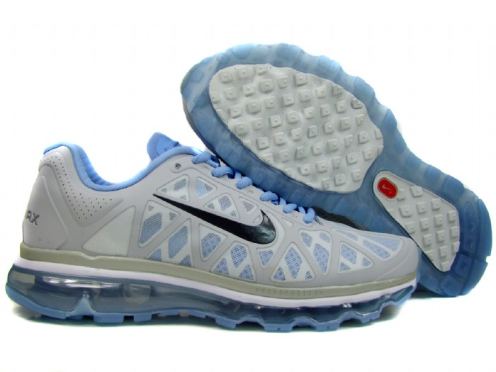 Womens Nike Air Max 2011 Trainers Grey/Blue/Black