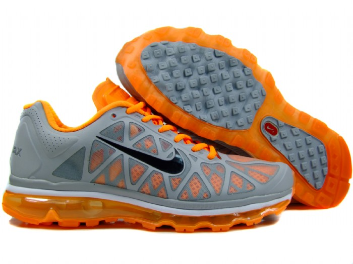 Womens Nike Air Max 2011 Trainers Orange/Black/Grey