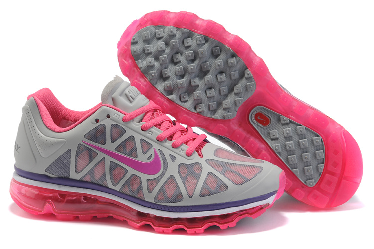 Womens Nike Air Max 2011 Trainers Grey/Pink
