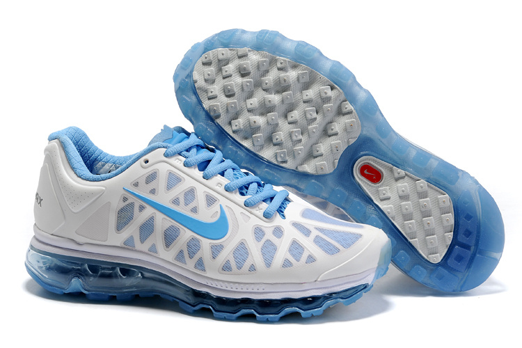 Womens Nike Air Max 2011 Trainers Grey/Blue