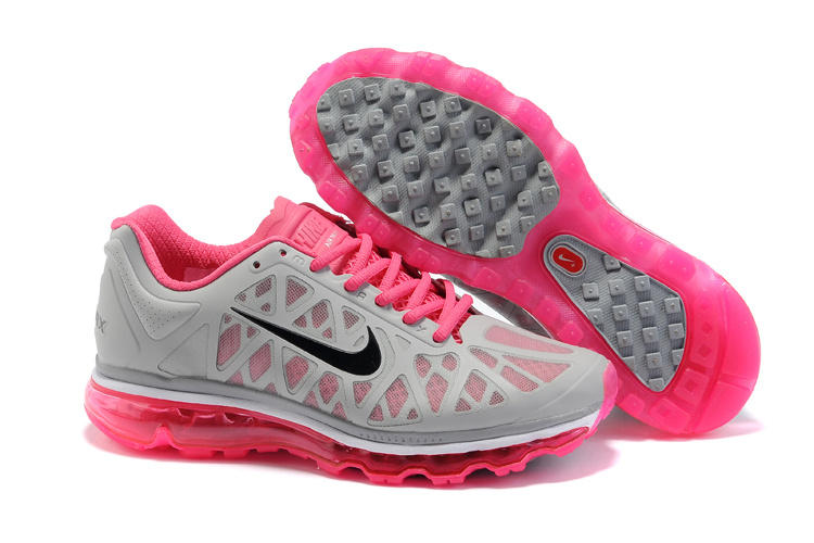 Womens Nike Air Max 2011 Trainers Grey/PeachBlossom