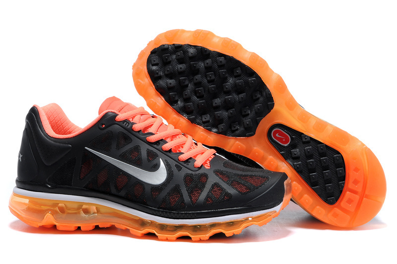 Womens Nike Air Max 2011 Trainers Orange/Black/SilverGrey