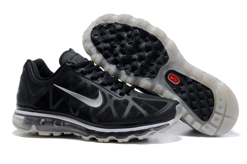 Womens Nike Air Max 2011 Trainers SilverGrey/Black