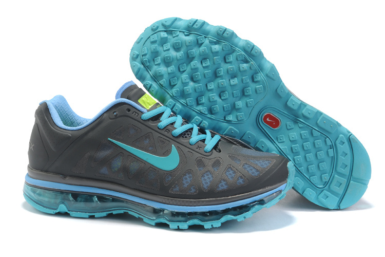 Womens Nike Air Max 2011 Trainers Grey/Lightblue