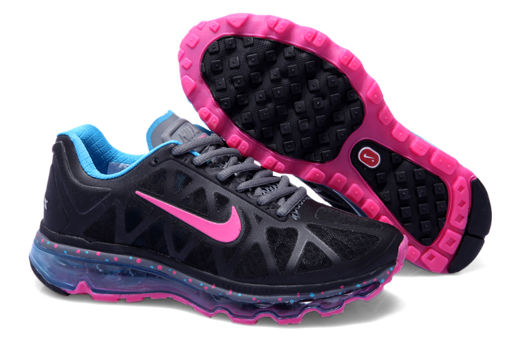 Womens Nike Air Max 2011 Trainers Pink/Black/Blue
