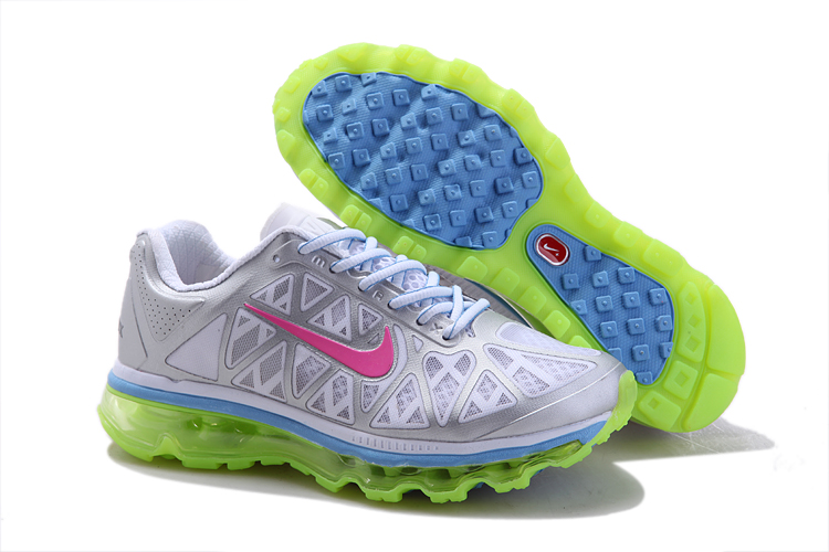 Womens Nike Air Max 2011 Trainers FluorescenceGreen/Pink/Grey