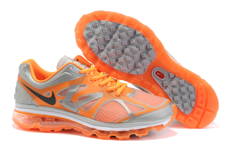 Mens Nike Air Max 2012 Trainers Orange/Grey