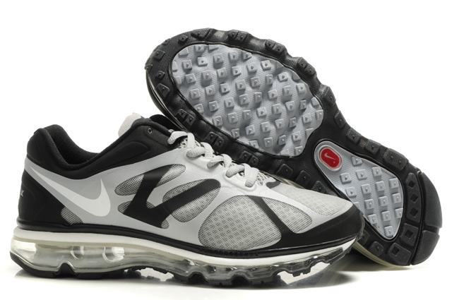 Mens Nike Air Max 2012 Trainers Grey/White/Black