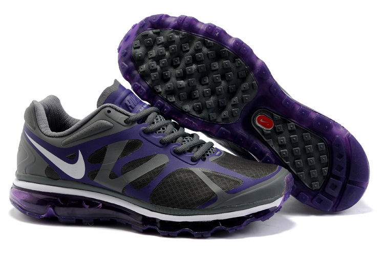Mens Nike Air Max 2012 Trainers Purple/Grey
