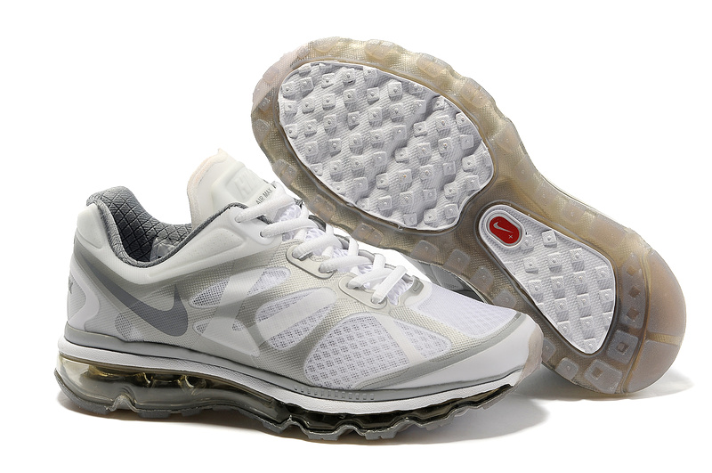 Womens Nike Air Max 2012 Trainers Grey/White