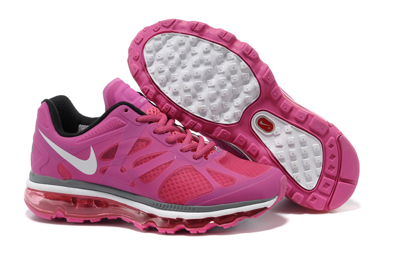 Womens Nike Air Max 2012 Trainers Rose/White/Red