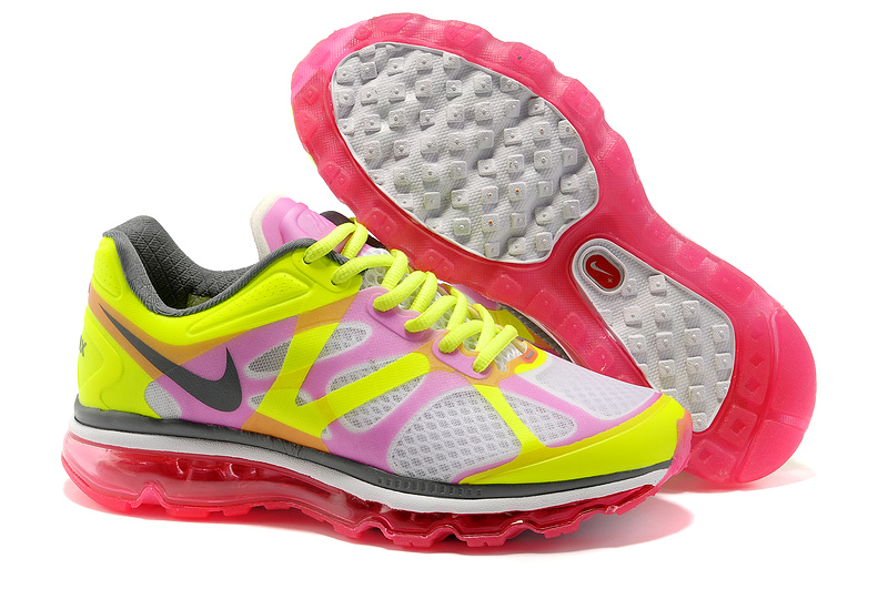 Womens Nike Air Max 2012 Trainers Pink/FluorescenceYellow