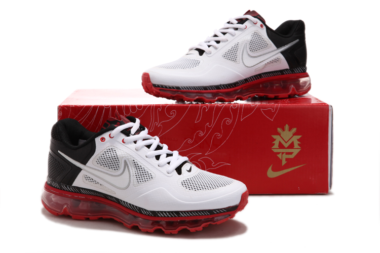 Mens Nike Air Max 2013 Trainers Red/Black/White
