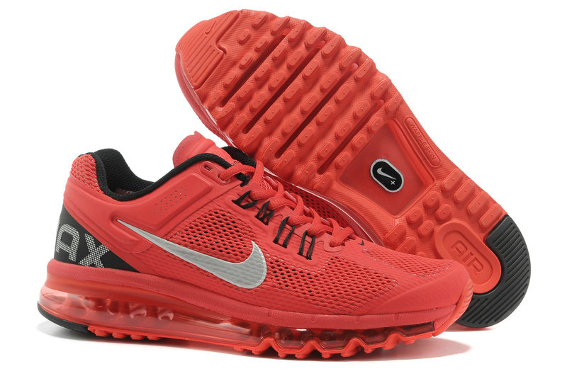 Mens Nike Air Max 2013 Trainers Red/White