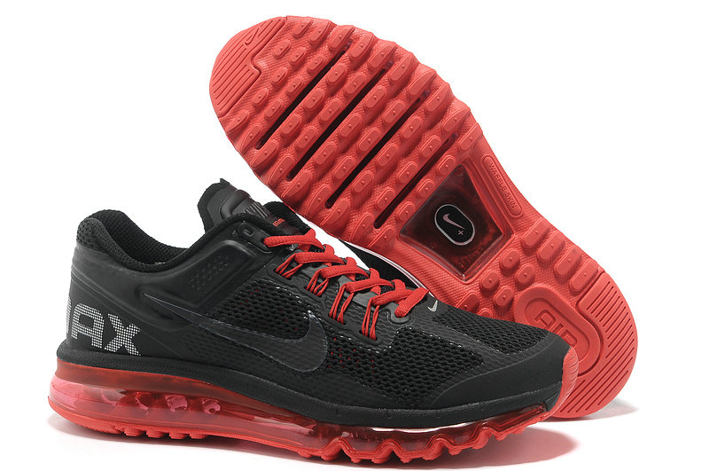 Mens Nike Air Max 2013 Trainers Black/Red
