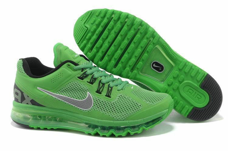 Mens Nike Air Max 2013 Trainers Apple green