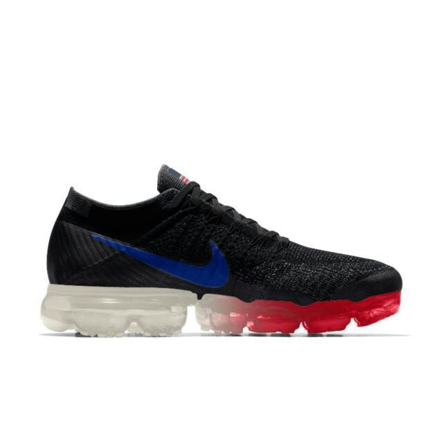 New 2018 Nike Air VaporMax American Flag Black Red