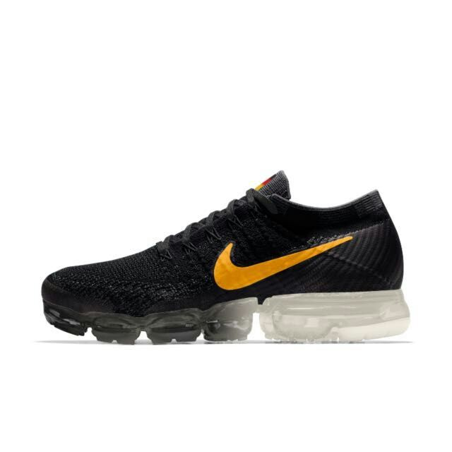 New 2018 Nike Air VaporMax Germany Flag Black Orange