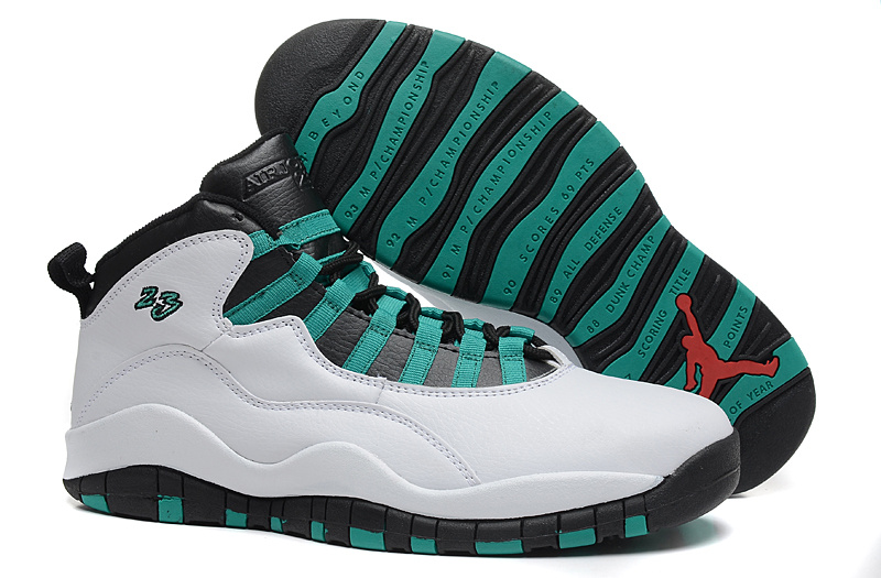 New Air Jordan 10 Retro Verde 2015 Shoes