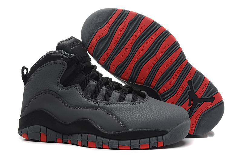 New Air Jordan 10 X Retro Cool Grey Infrared Black Shoes