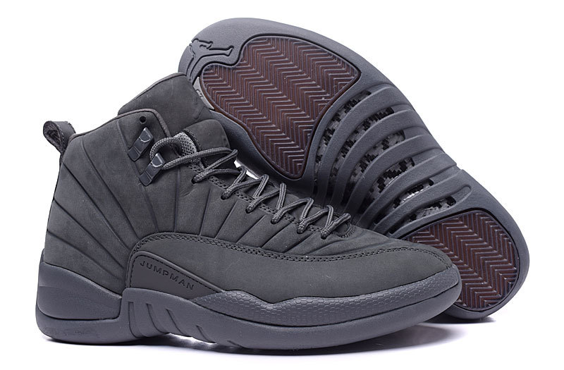 2016 Air Jordan 12 PSNY Wolf Grey Shoes