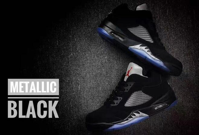 New Air Jordan 5 Low Metallic Black Shoes