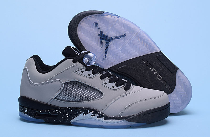 New Air Jordan 5 Low Wolf Grey Shoes