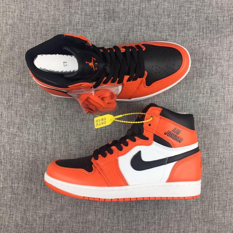 New Jordan 1 Retro Nike Logo Breast Cancer Orange Black
