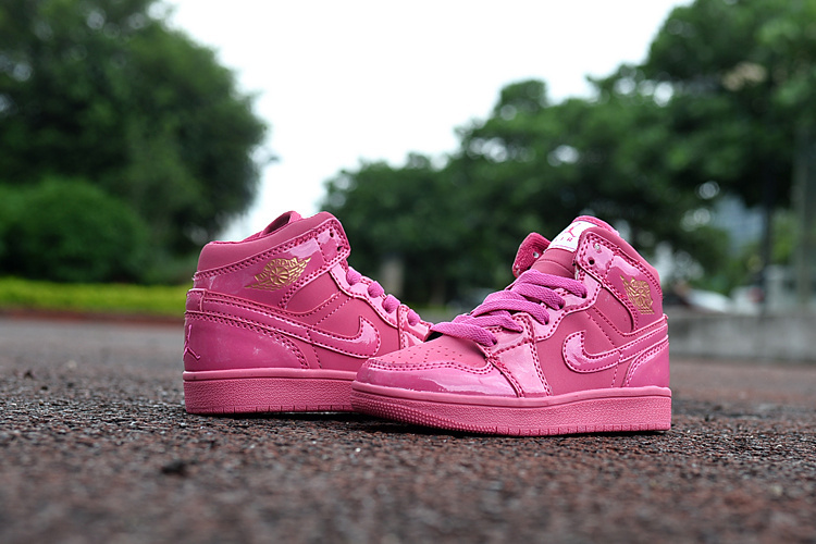 New Kids Jordan 1 Retro All Pink Shoes