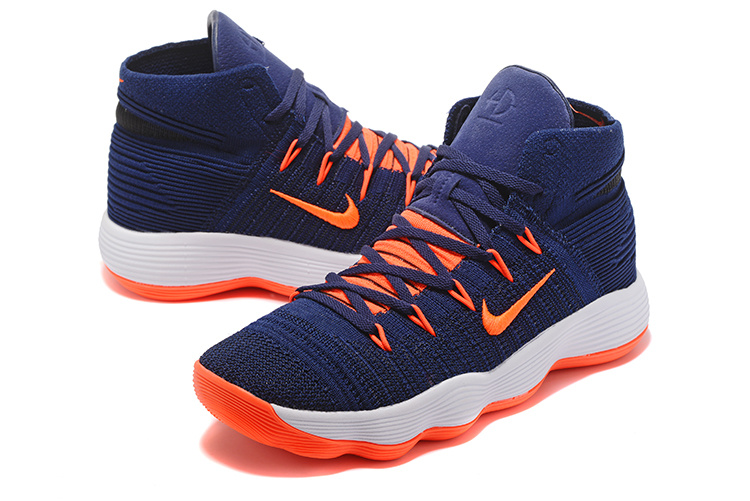 New Nike Hyperdunk 2017 Knit Deep Blue Orange White Shoes