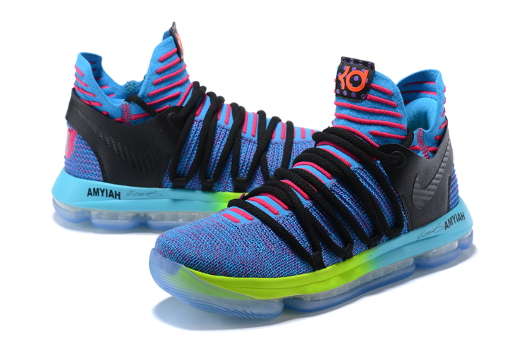 New Nike KD 10 Blue Black Red Shoes