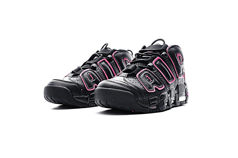 Nike Air More Uptempo Black Red Shoes For Women