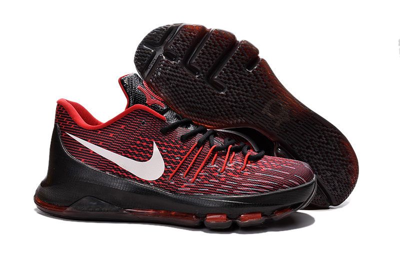 Nike KD 8 Black Univeristy Red White 749375 710 Basketball Shoes